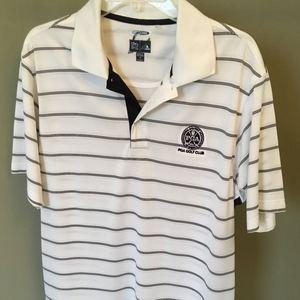 Adidas PGA Golf Club White with Black Stripe Polo